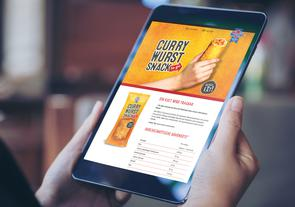 Wolf Currywurst Snack Landing Page